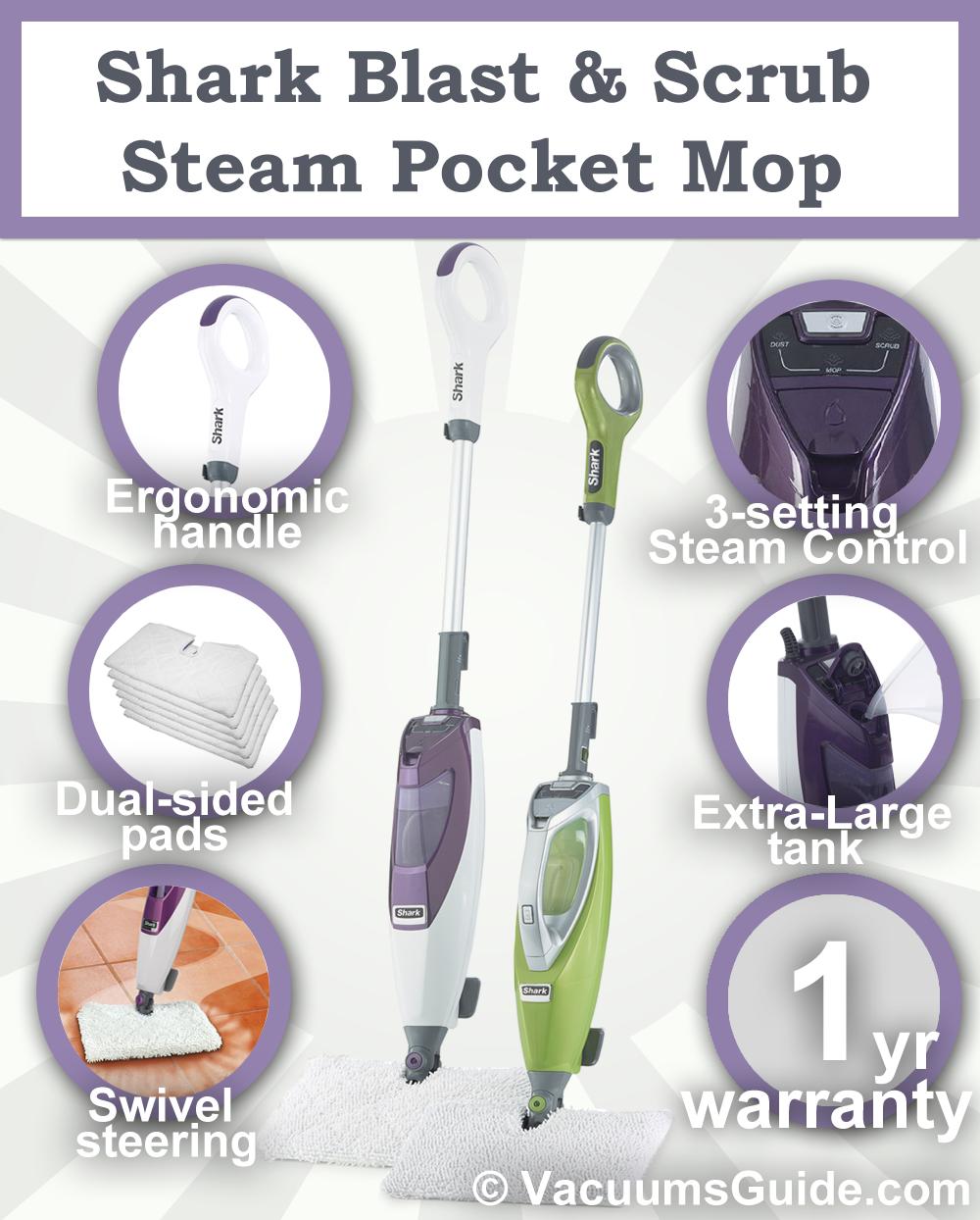 Shark Blast Amp Scrub Steam Pocket Mop Not Your Ordinary Steamer